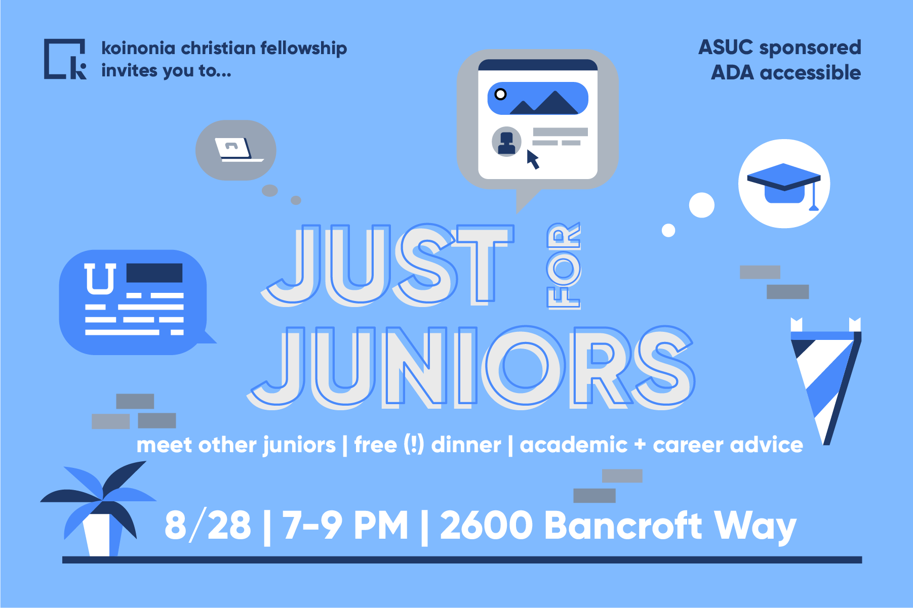Are you a junior transfer? Come and listen to tips and advice from our upperclassmen who can answer your questions and tell you more about being a student and thriving at Cal!a