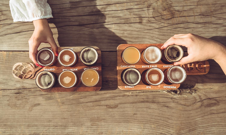 Flights  de Cerveza Artisanal - Todo de los mejores cervezas de Antigua Guatemala