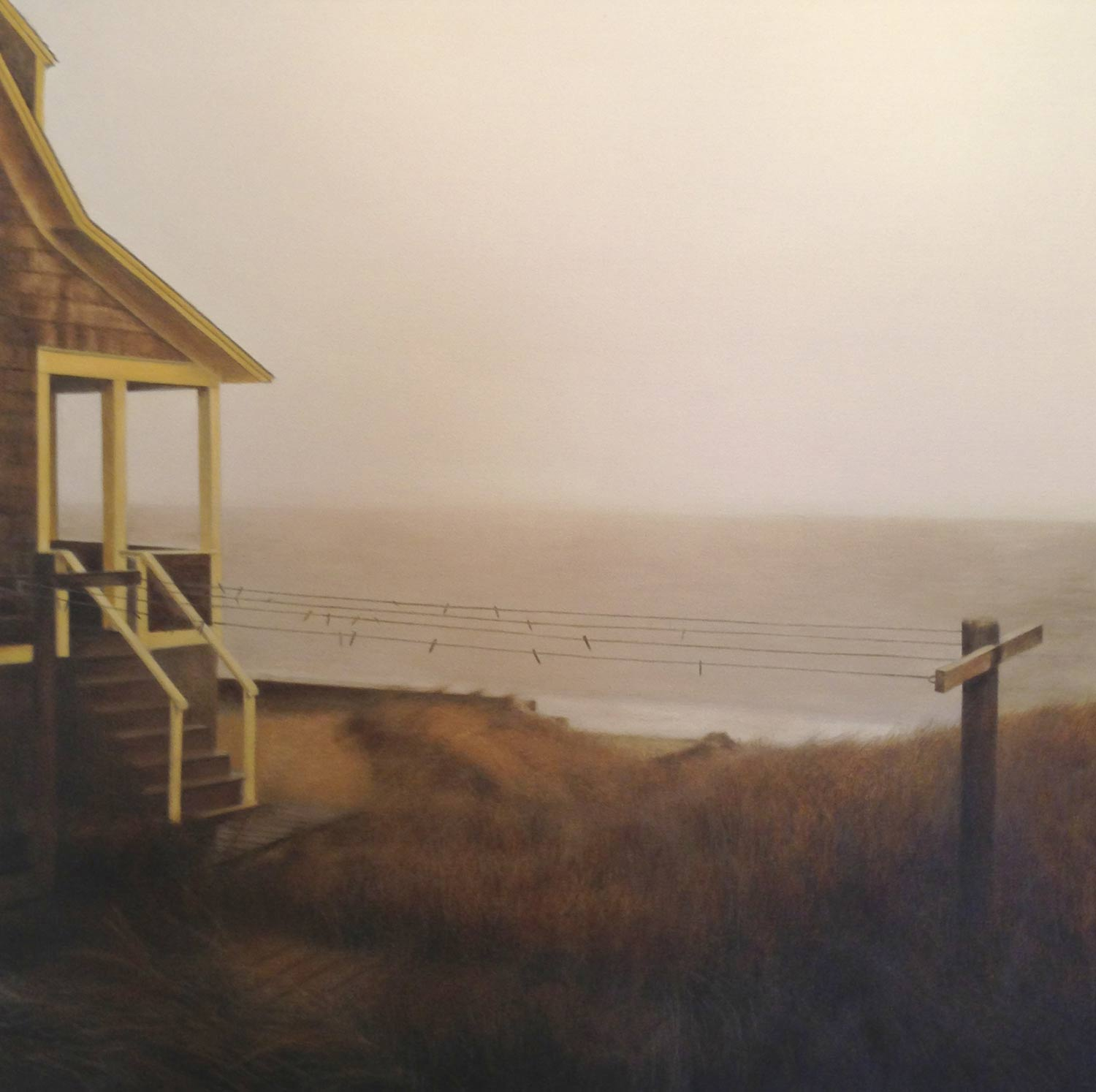 The Clothes Line, 2013 Provincetown, MA Oil on canvas 30 x 30 inches