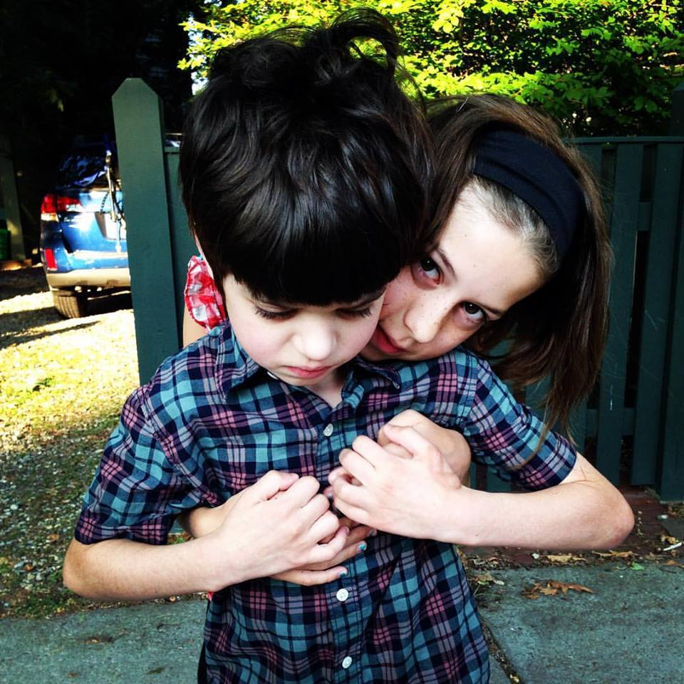 Finn with sister Annabel
