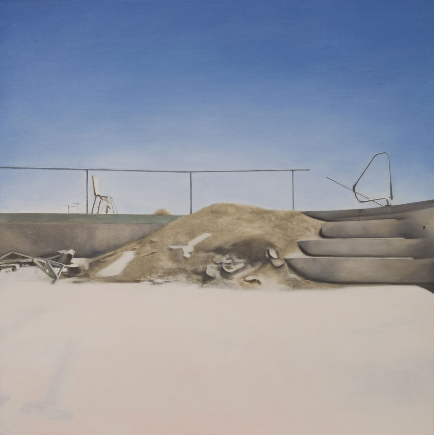 "Salton Pool, 2010 Oil on canvas 48x48"""