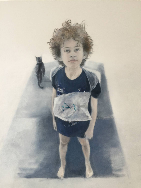 "August at Ten, (Work in progress) Oil on canvas 42x52"""