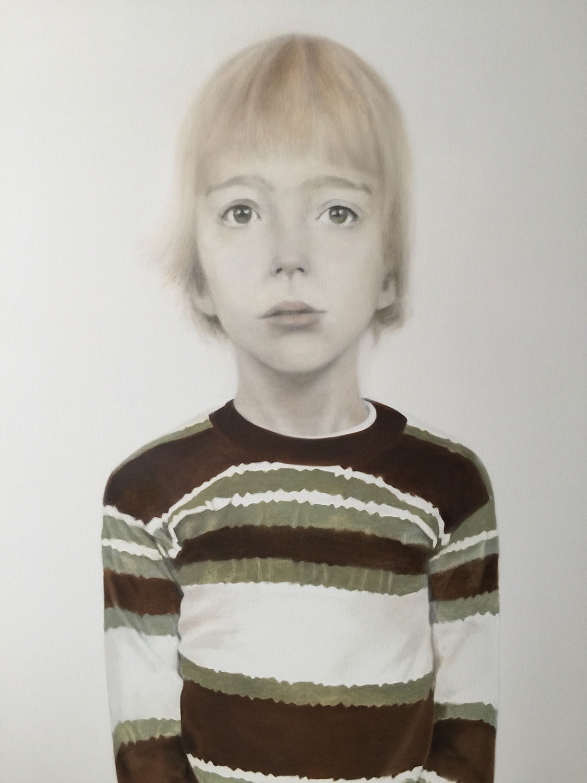 "Eddie at Five, 2017 Oil on canvas 42x54"""