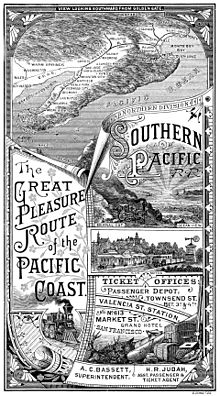 Southern Pacific routes on the Pacific Coast, 1885