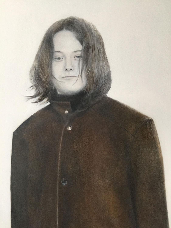 """Elizabeth at Fourteen, 2017 Oil on canvas 36x48"""""""