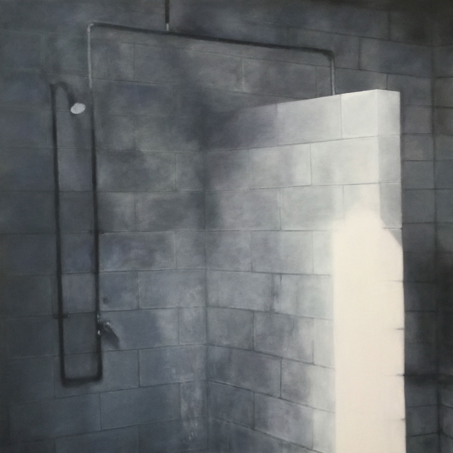 """The Shower, 2018 Oil on canvas 42x42"""""""