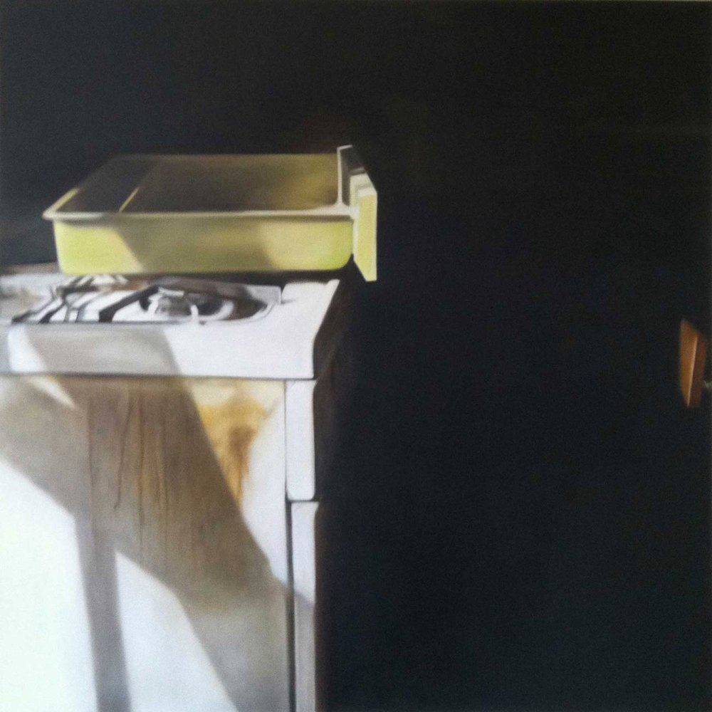 """PAAM Permanent Collection, Deborah Martin, The Drawer, 2011 (Narrow Lands) Provincetown, MA Oil on canvas 36x36"""""""