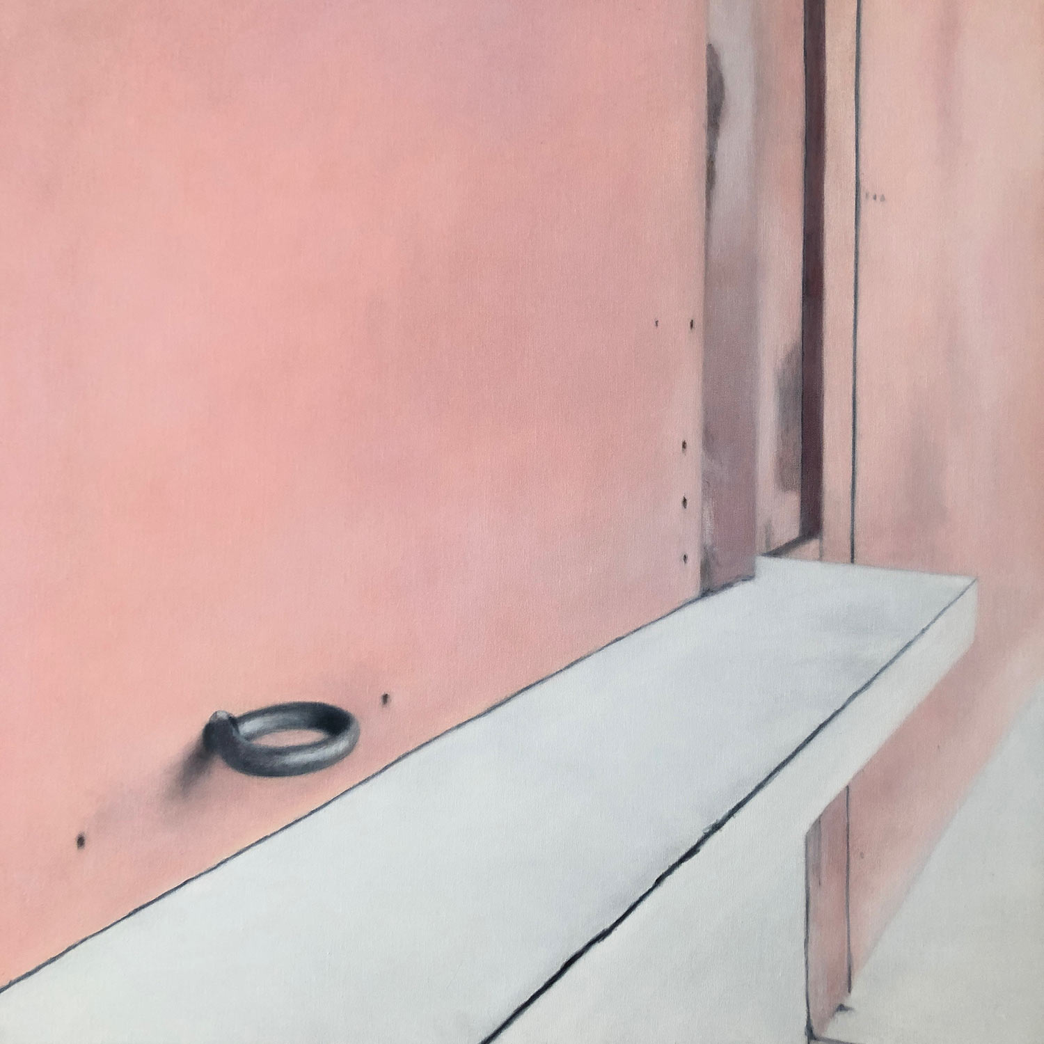 Deborah Martin The Concession Stand, 2018 Oil on canvas 32x32""