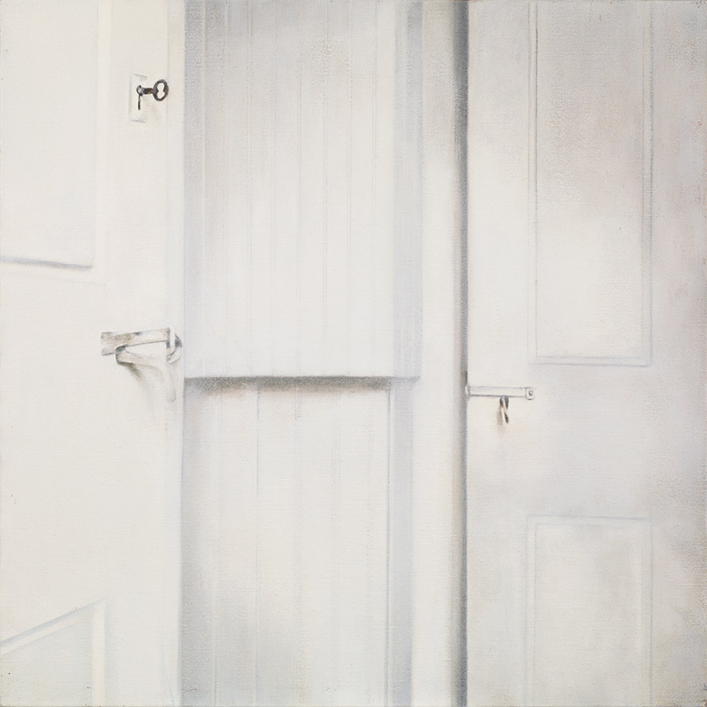Deborah Martin (#35), The Key, 2012 (Circle of Truth Project) Oil on canvas, 20x20""