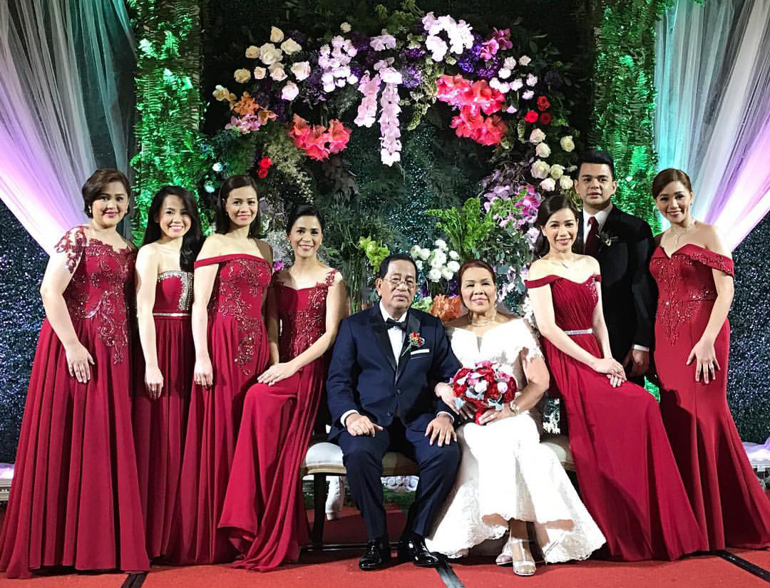 This couple's 40th wedding anniversary party was organized by their children. Photo from Kutchie Zaldarriaga.