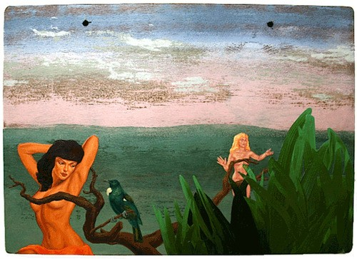 Roger Boyce  Erewhon; An Allegory , 2011 Oil & acrylic polymer on hardwood panel 440 x 610 mm [Private collection]   _______