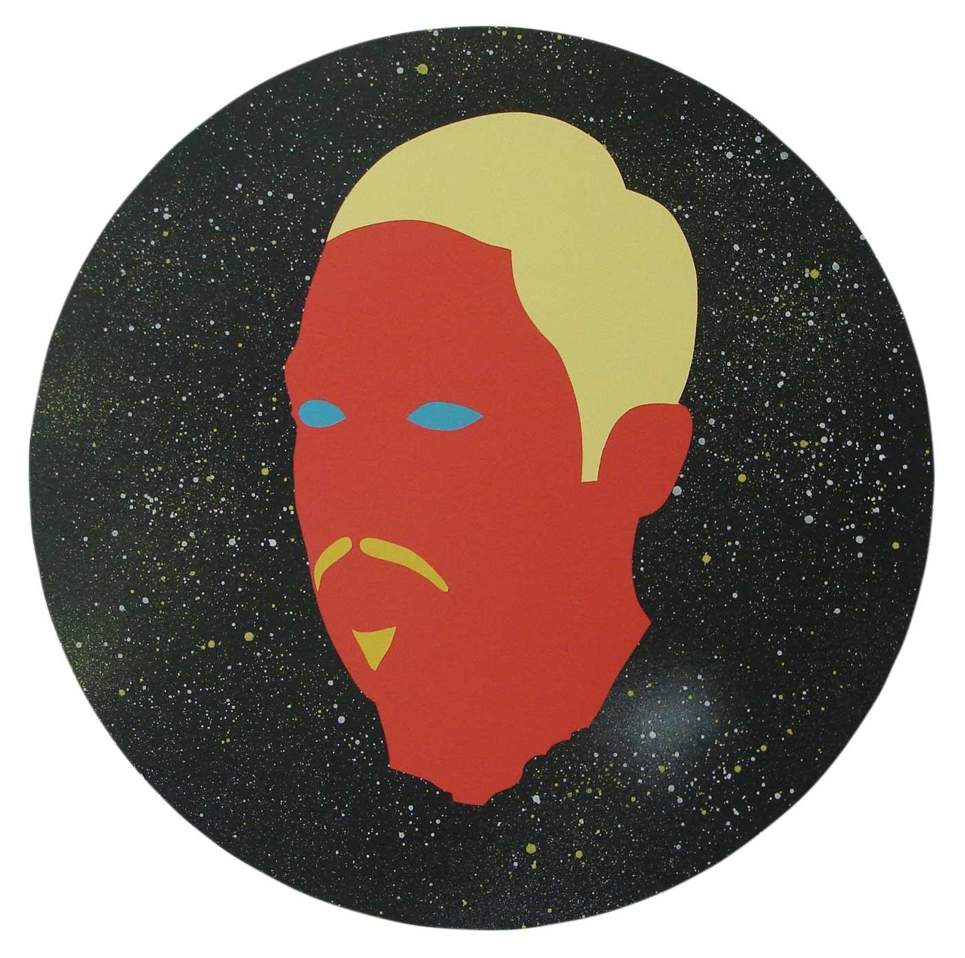 Wayne Youle  Every 18 years a sighting , 2014 Acrylic and enamel on board 437mm, diameter (unframed), 560 mm, diameter (framed)  _______
