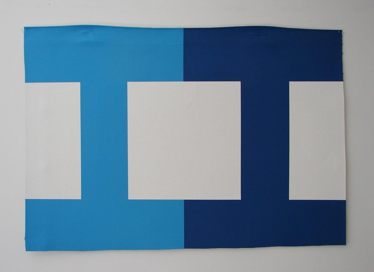 Wayne Youle  Blue Eyes, 2012 Acrylic on un-stretched canvas 620 x 900 mm  _______
