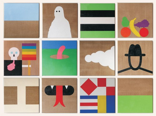 Wayne Youle  It's The Simple Things I , 2010 Oil on linen Twelve works each 320 x 320 mm [Private collection]  _______