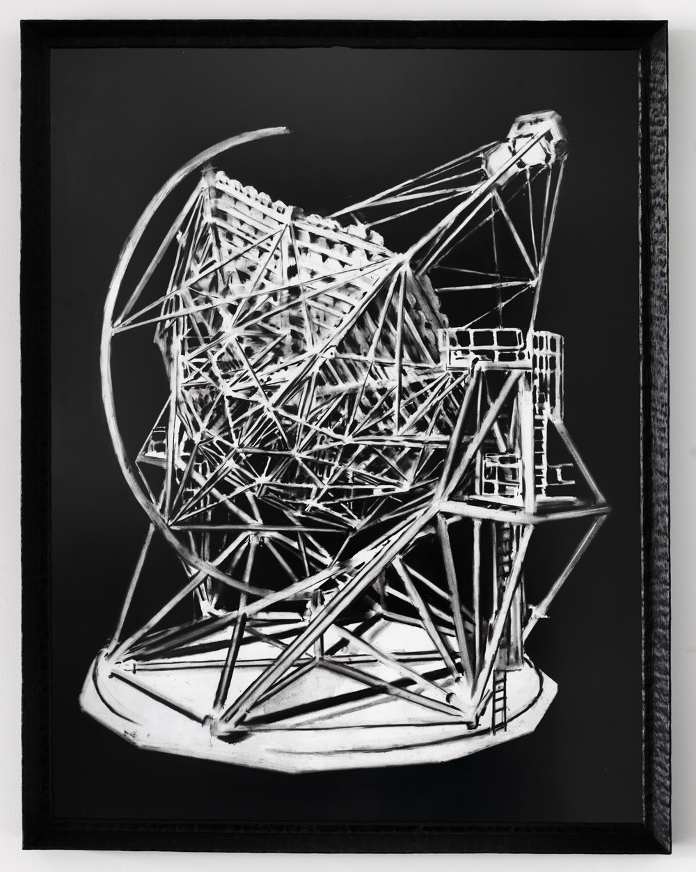 Douglas Stichbury  Desk ornament , 2015 Framed charcoal on paper 1100 x 835 mm [Private collection]  _______