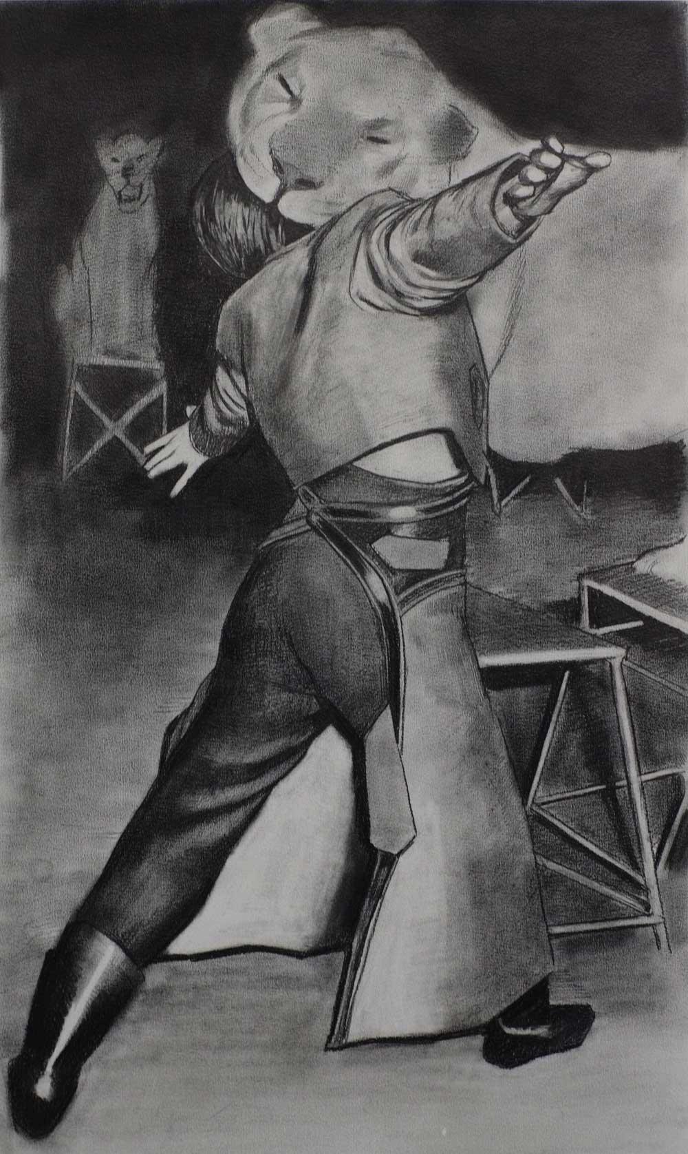 Douglas Stichbury  The Extension , 2013 Pencil on paper 600 x 420 mm  _______