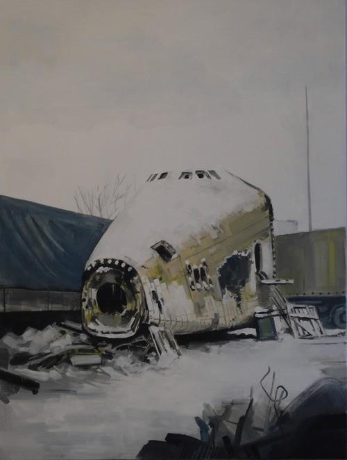 Douglas Stichbury  Soviet Shuttle , 2010 Oil on canvas 1015 x 835 mm [Private collection]  _______