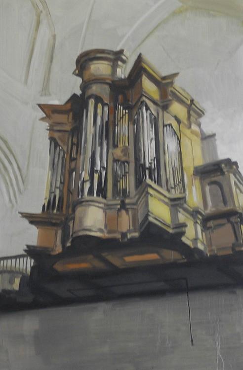 Douglas Stichbury  Organ , 2010 Oil on board 600 x 400 mm  _______