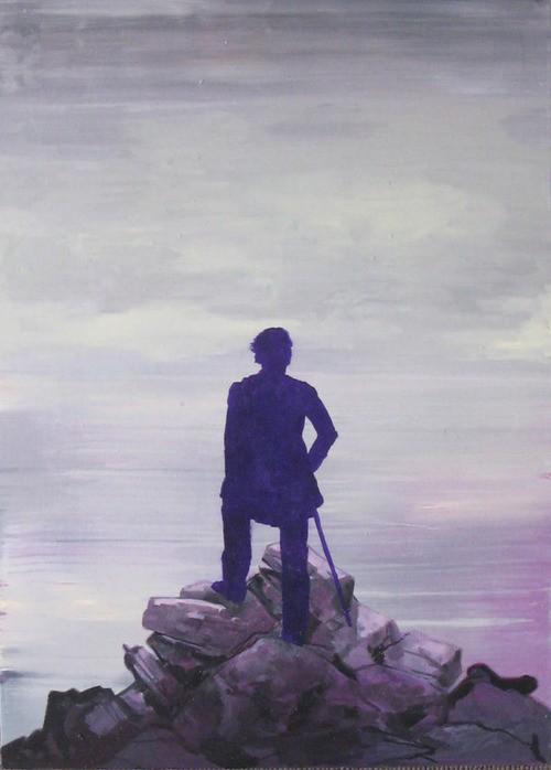Douglas Stichbury  Frontier , 2009 Oil on board 500 x 360 mm [Private collection]  _______