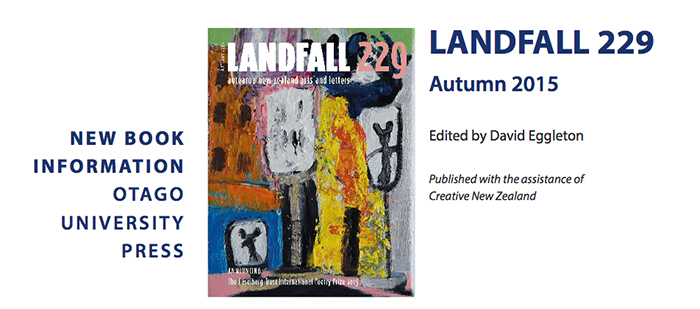 Rob McLeod     Featured on the cover of Landfall 299, Autumn 2015.