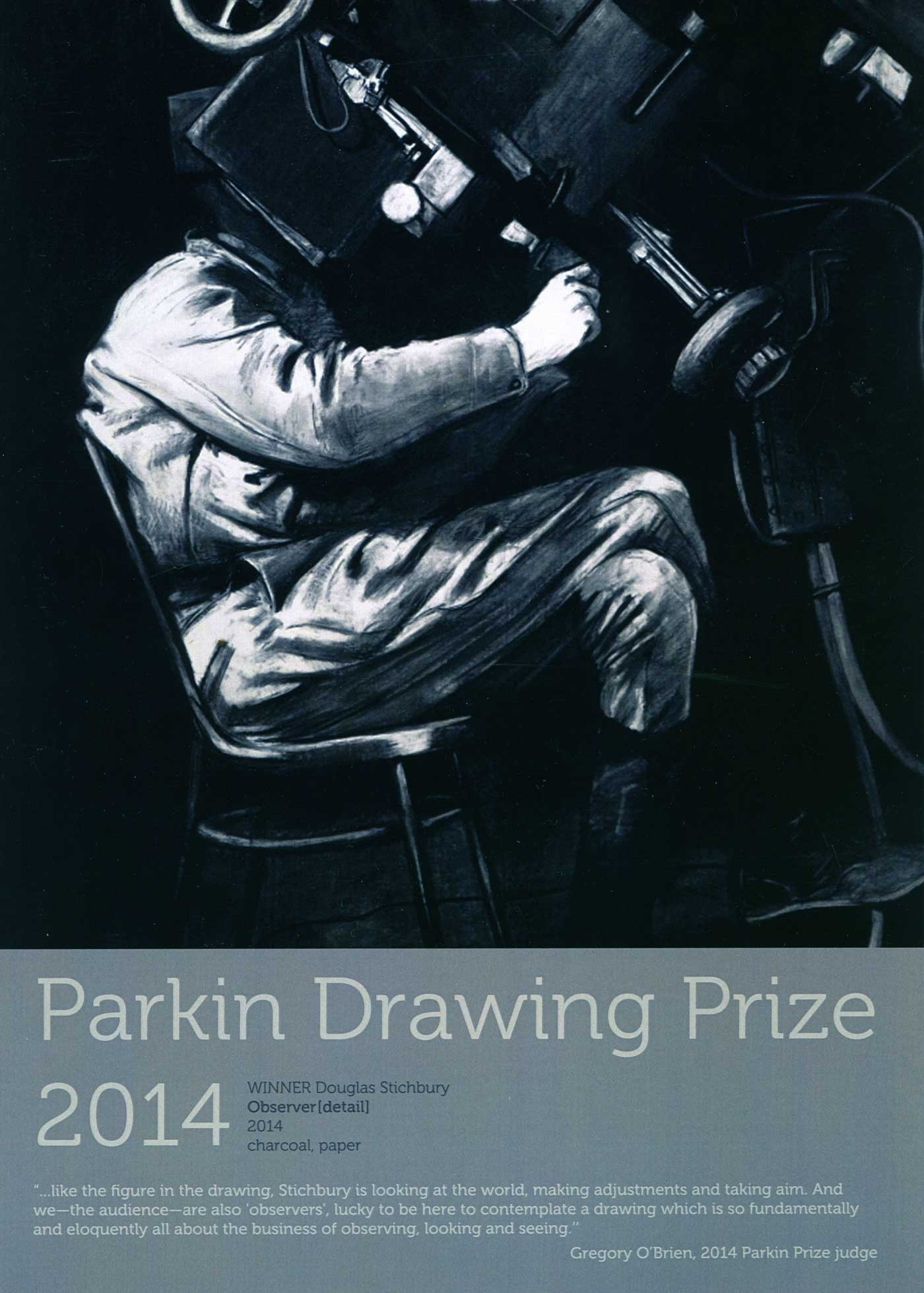 Congratulations Douglas Stichbury    Winner of the 2014 Parkin Drawing Prize