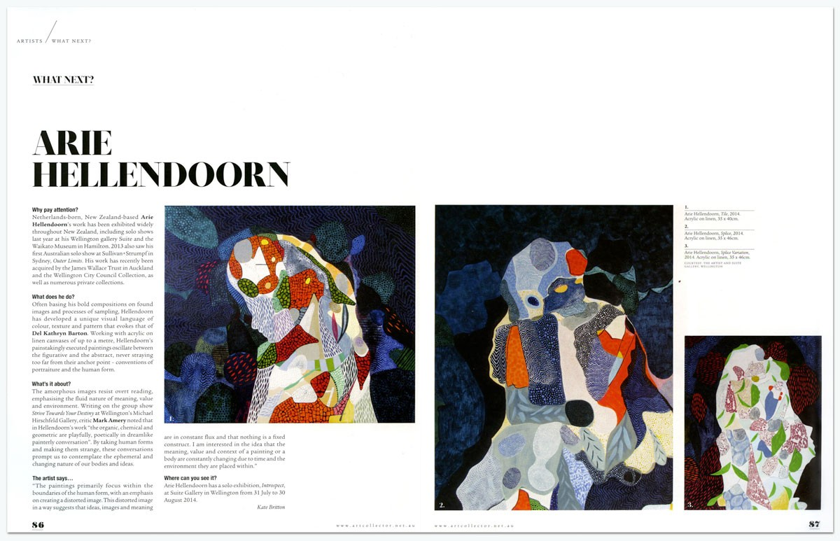 Arie Hellendoorn      Art Collector , Issue 69, Jul-Sept 2014
