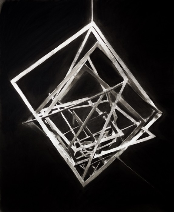 Douglas Stichbury  Rodchenko , 2015 Framed charcoal on paper 1050 x 835 mm  _______