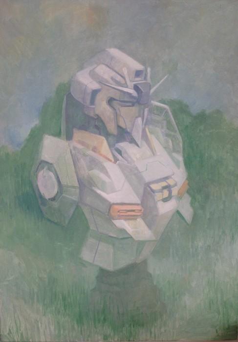 Douglas Stichbury  RX-78-2 , 2015 Oil on canvas 700 x 500 mm  _______