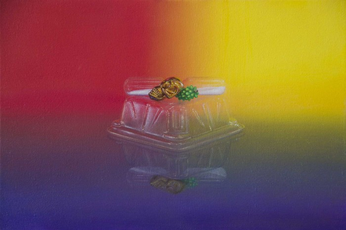 Emily Hartley-Skudder  Red, Yellow and Purple Vanitas, 2014 Oil on calico 188 x 285 mm  _______