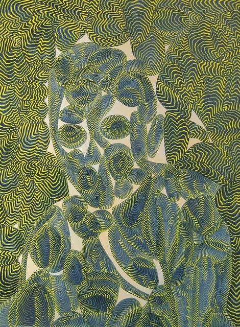 Arie Hellendoorn  Channel , 2014 Acrylic on linen 810 x 600 mm  _______