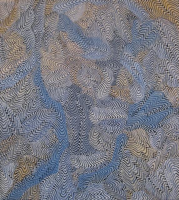 Arie Hellendoorn  Blind , 2014 Acrylic on linen 500 x 450 mm  _______