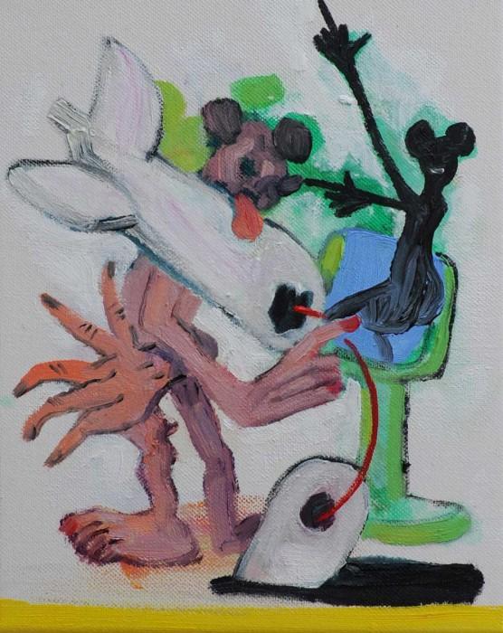 Rob McLeod  Broken landing , 2014 Oil on canvas 250 x 200 mm  _______