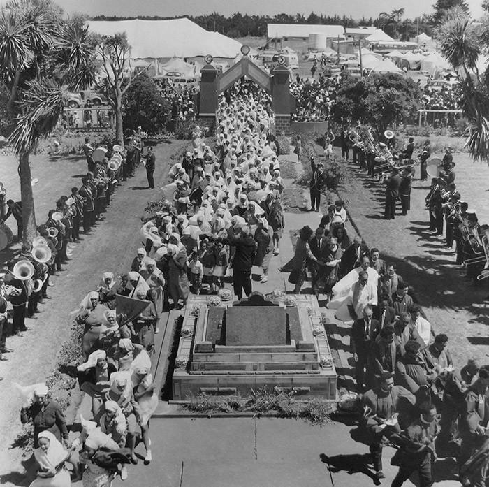 Ans Westra  Celebrations, Ratana Church - 25th Jan, Ratana Pa , 1963 Framed signed silver gelatin print 280 x 280 mm  _______