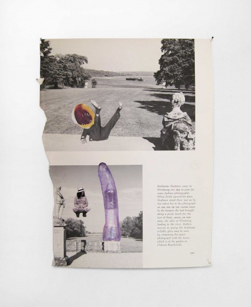 Rob Cherry  Chateau Beychevelle , 2014 Collage 305 x 225 mm  _______