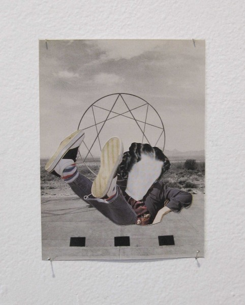 Rob Cherry  Burning Man , 2014 Collage 145 x 108 mm  _______
