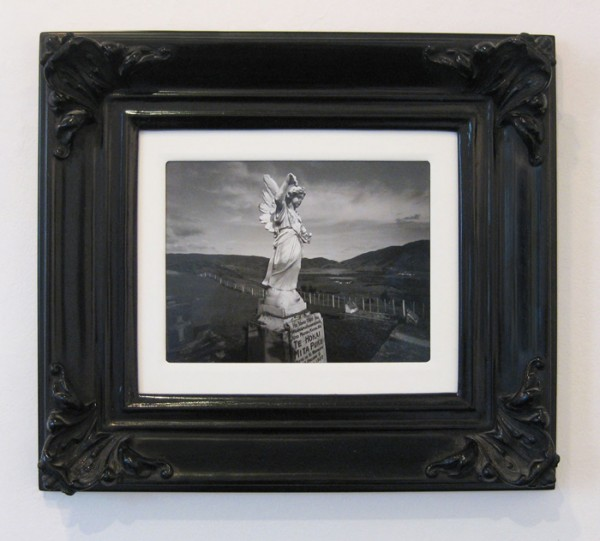Laurence Aberhart  Angel Over Whangapa Harbour, Northland , original 1982  Framed silver gelatin print 410 x 470 mm   _______