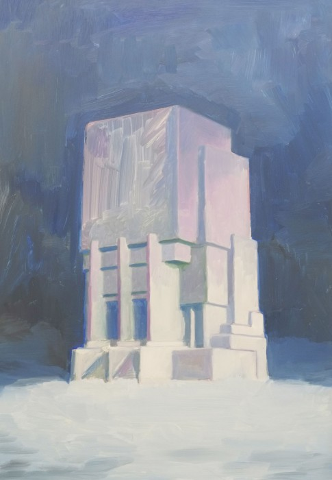 Douglas Stichbury  Winter Project , 2013 Oil on dibond 640 x 460 mm  _______
