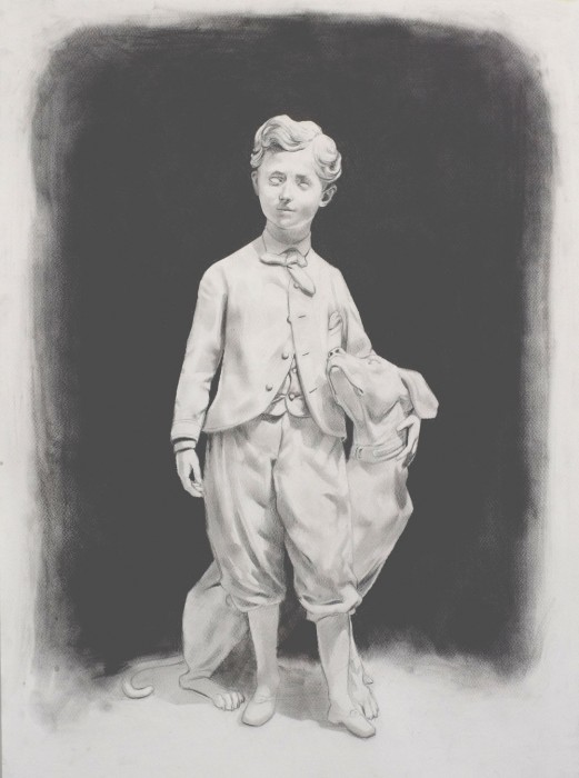 Douglas Stichbury  Young Prince , 2013 Pencil on paper 600 x 420 mm [Private collection]   _______
