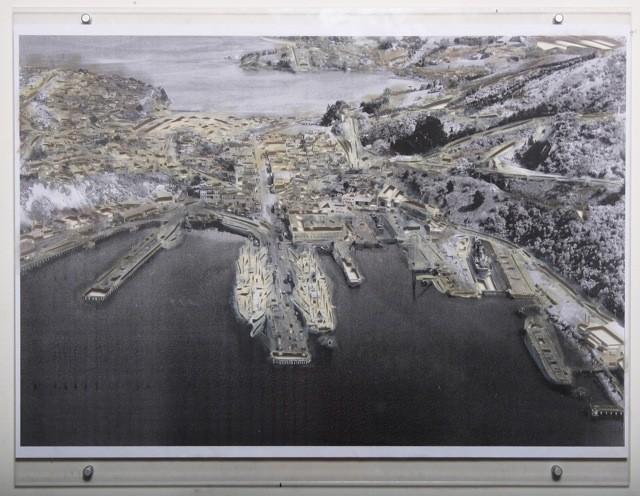 Sophie Scott  Port II , 2013 Oil on paper mounted in perspex 594 x 841 mm  _______
