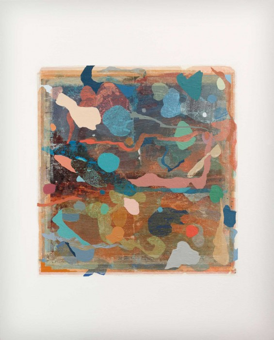 Adrienne Millwood  Beachcomber , 2012/13 Oil and photo-releases on canvas 1000 x 805 mm   _______