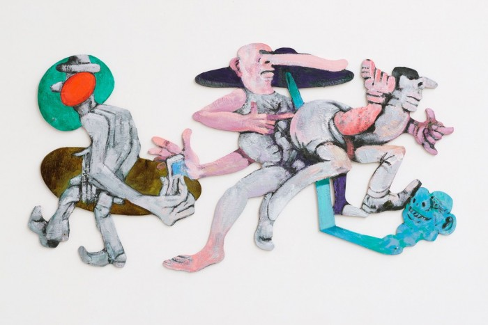 Rob McLeod  When The Aliens Land #2 , 2013 Oil on plywood 420 x 760 mm  _______
