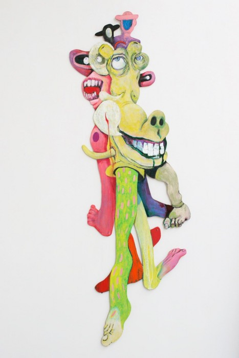 Rob McLeod  When The Aliens Land #6 , 2013 Oil on plywood 1500 x 470 mm  _______