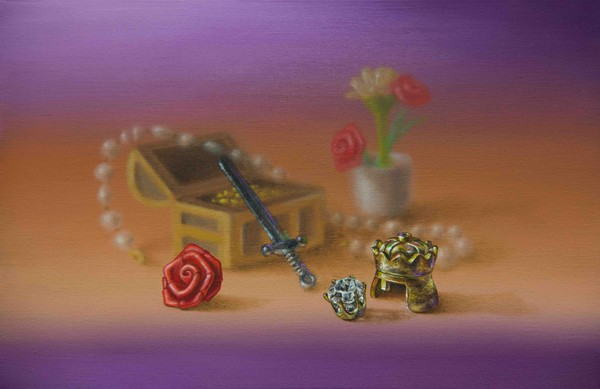 Emily Hartley-Skudder  Royal Still Life with Rose and Riches , 2013 Oil on calico 152 x 228 mm [Private collection]   _______
