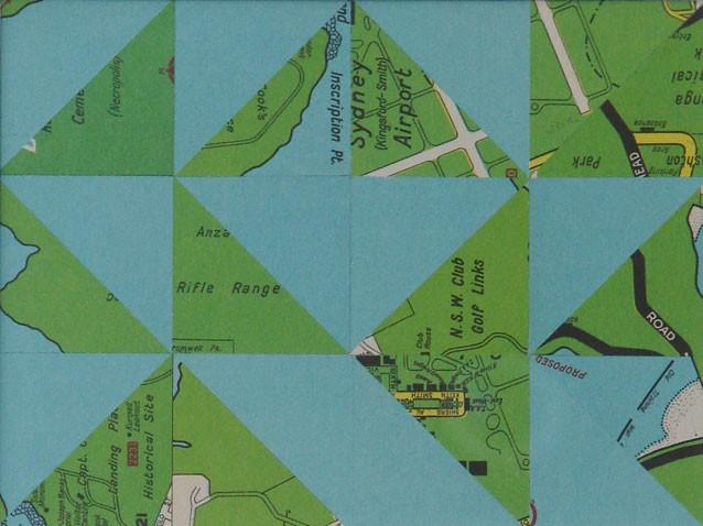 Wayne Youle  Uphill, downhill and uphill again , 2012 Found maps 123 x 162 mm  _______
