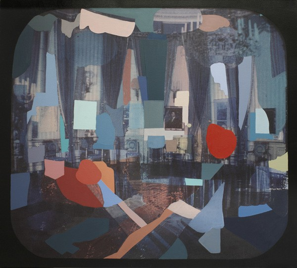 Adrienne Millwood  Empire , 2013 Oil andprint on canvas 1152 x 1295 mm [Private collection]  _______