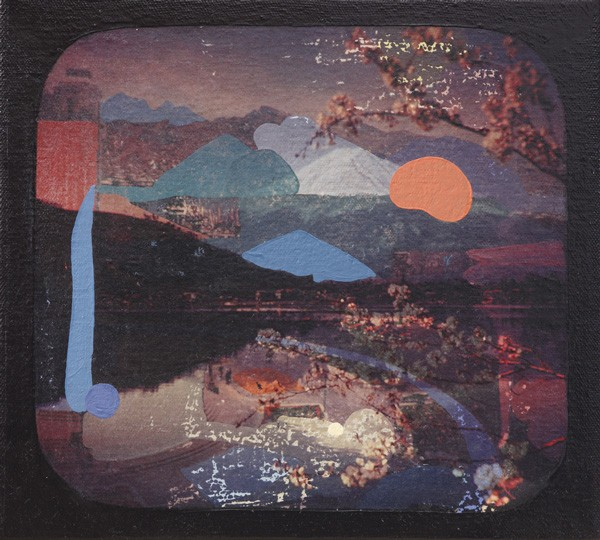 Adrienne Millwood  Fuji , 2013 Oil andphoto-releases on canvas 204 x 226 mm [Private collection]  _______