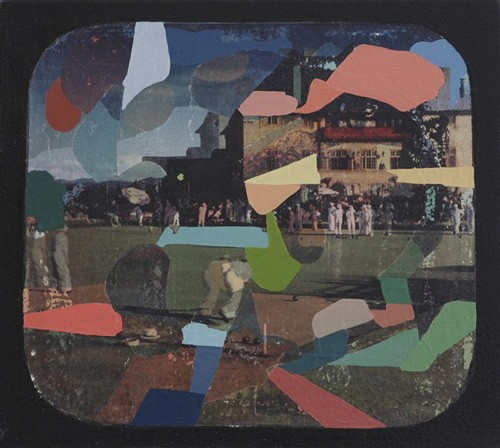 Adrienne Millwood  Green , 2013 Oil andphoto-releases on canvas 291 x 326 mm [James Wallace Trust Collection]  _______