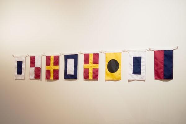 Wayne Youle  SURPRISE , 2012 Hand sewn nautical flags  _______
