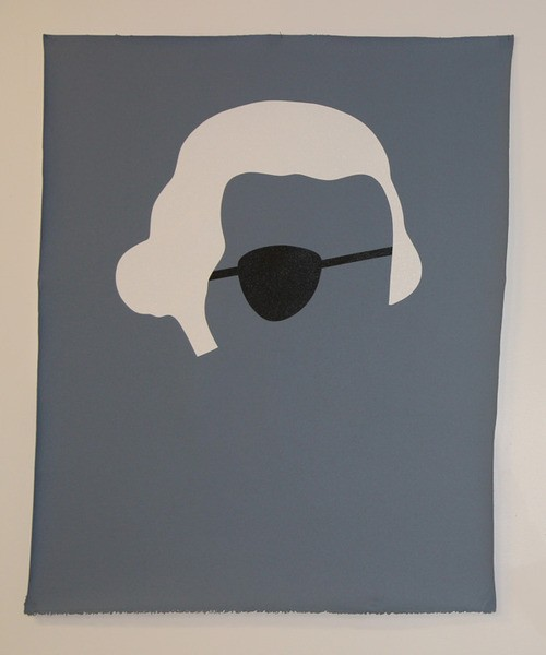 Wayne Youle  What You Looking at? , 2012 Acrylic on canvas 990 x 590 mm   _______