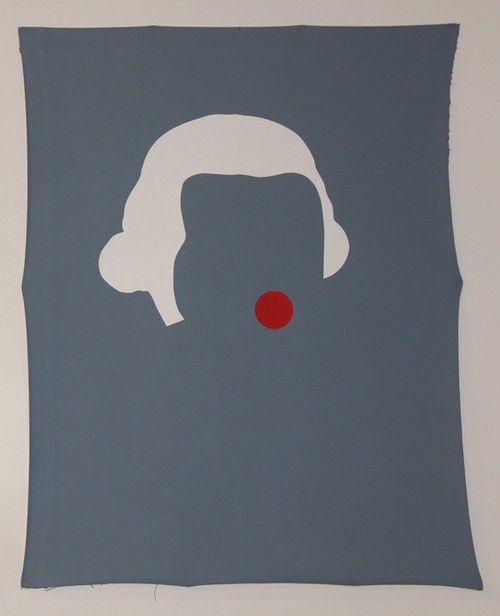 Wayne Youle  Nosey-Parker , 2012 Acrylic on canvas 990 x 590 mm   _______